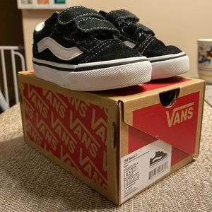 Toddler Boy Vans Old School V Black size 4.5